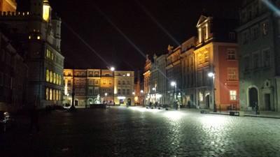 Poznan bei Nacht